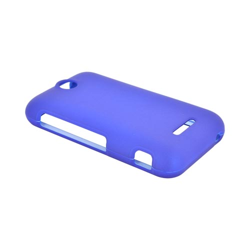 ZTE Score Rubberized Hard Case - Blue