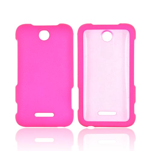 ZTE Score Rubberized Hard Case - Hot Pink