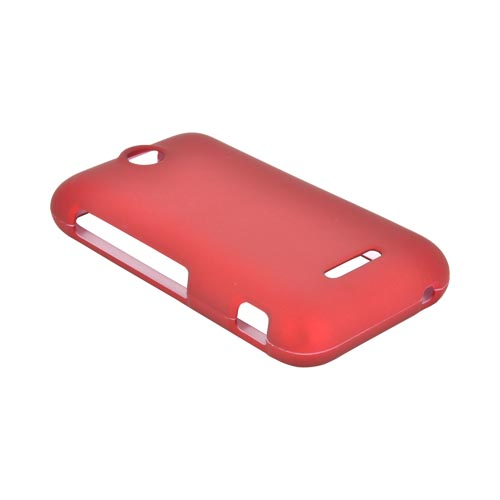 ZTE Score Rubberized Hard Case - Red