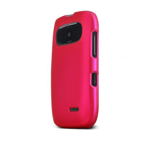 Hot Pink ZTE Z432 Matte Rubberized Hard Case Cover; Perfect fit as Best Coolest Design Plastic Cases