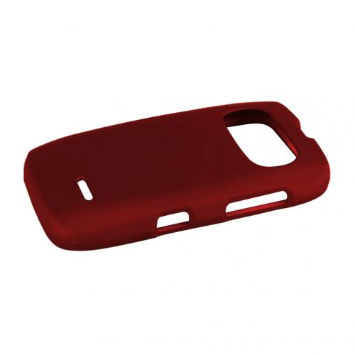 Red ZTE Z432 Matte Rubberized Hard Case Cover; Perfect fit as Best Coolest Design Plastic Cases