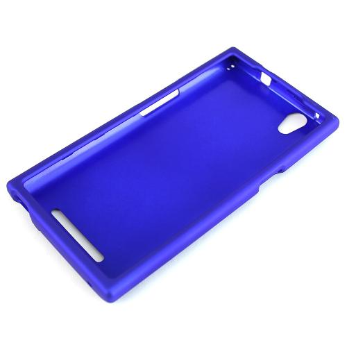 ZMax Case, [Blue] Slim Grip Rubberized Hard Plastic Case for ZTE ZMax