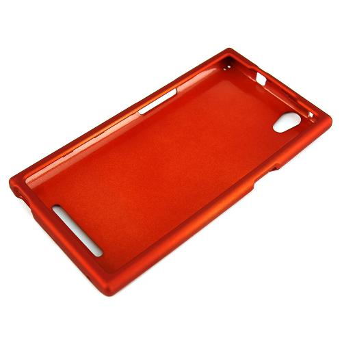 ZMax Case, [Orange] Slim Grip Rubberized Hard Plastic Case for ZTE ZMax