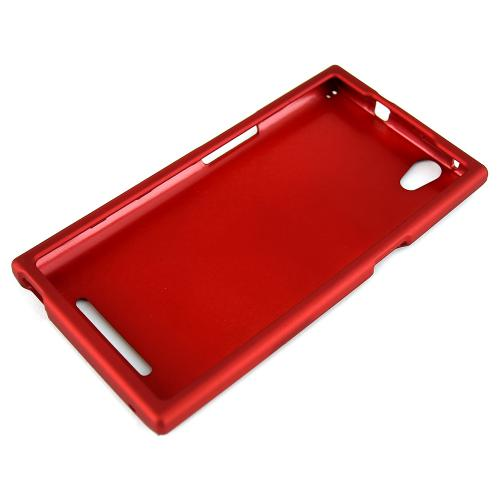 ZMax Case, [Red] Slim Grip Rubberized Hard Plastic Case for ZTE ZMax