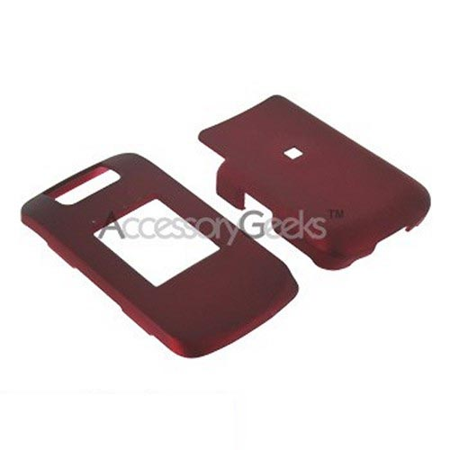 Blackberry Pearl Flip 8220 Rubberized Hard Case - Red