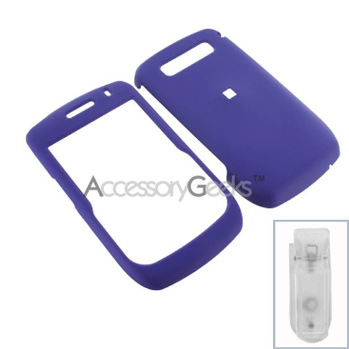 Blackberry Curve 8900 Rubberized Hard Case - Purple