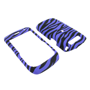 Blackberry Curve 8900 Rubberized Hard Case - Purple Zebra