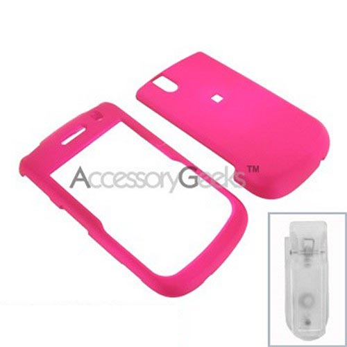Blackberry Bold 9650 & Tour 9630 Rubberized Hard Case - Hot Pink