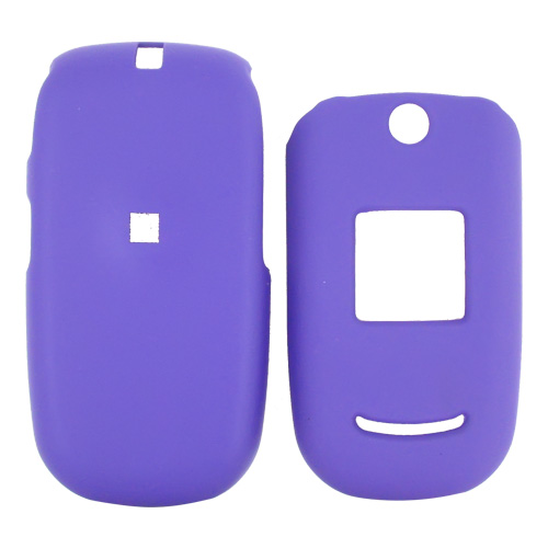 Cricket A200 Rubberized Hard Case w/ Belt Clip- Purple