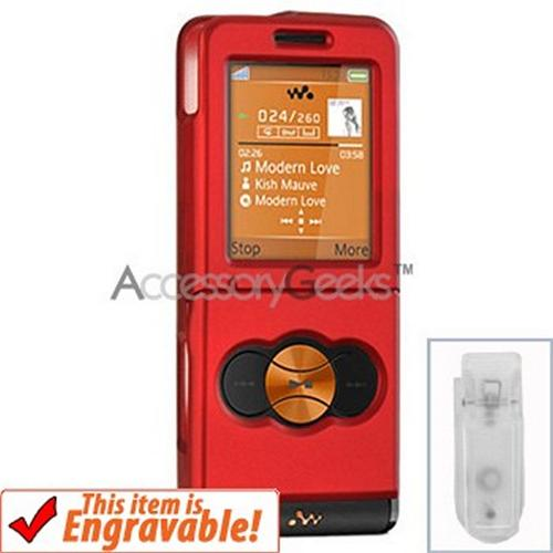 Sony Ericsson W350 Rubberized Hard Case - Red