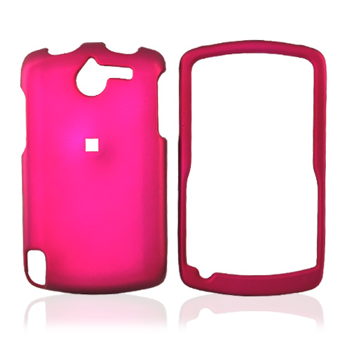 HP IPAQ/Glisten Rubberized Hard Case - Rose Pink