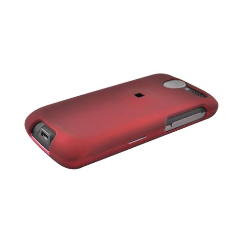 HTC Desire (CDMA) Rubberized Hard Case - Red