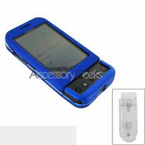 HTC Google G1 Rubberized Hard Case - Blue