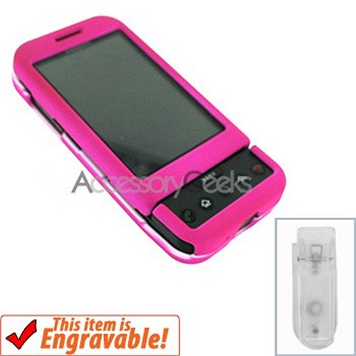 HTC Google G1 Rubberized Hard Case - Hot Pink