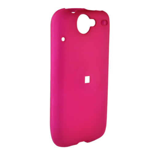 Google Nexus One Rubberized Hard Case - Hot Pink