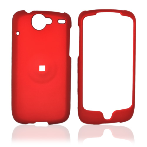 Google Nexus One Rubberized Hard Case - Red