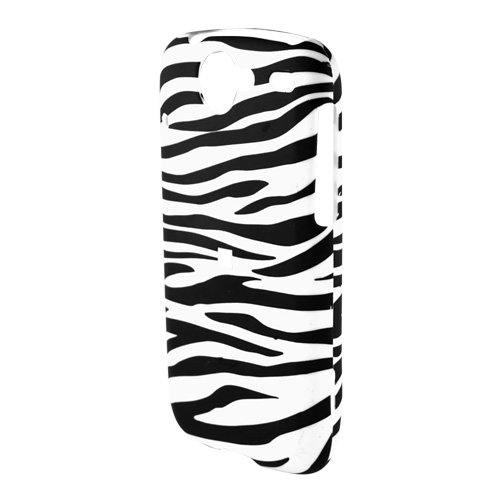 Google Nexus One Rubberized Hard Case - White/Black Zebra