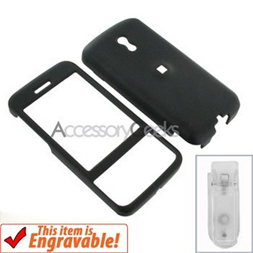HTC Touch Pro Rubberized Hard Case - Black