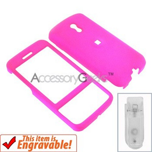 HTC Touch Pro Rubberized Hard Case - Hot Pink
