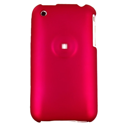 Apple iPhone 3G 3GS Rubberized Hard Case - Rose Pink