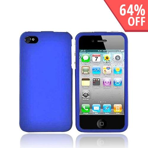 Apple Verizon/ AT&T iPhone 4, iPhone 4S Rubberized Hard Case - Blue