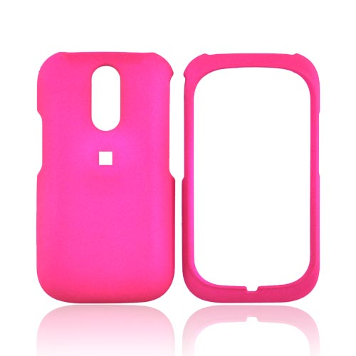 Kyocera Rio E3100 Rubberized Hard Case - Hot Pink
