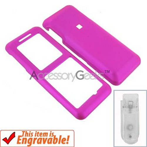 Kyocera Melo Rubberized Hard Case - Hot Pink