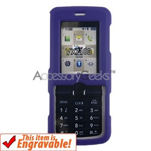 LG Glance VX7100 Rubberized Hard Case - Purple