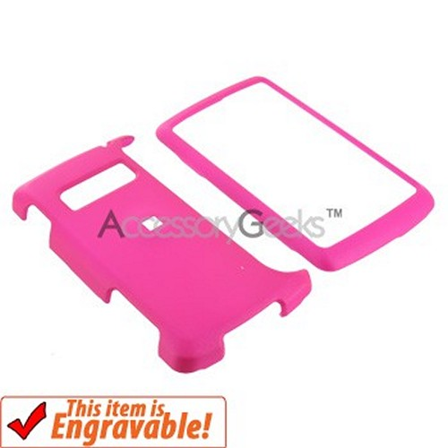 LG EnV3 VX9200 Rubberized Hard Case - Hot Pink