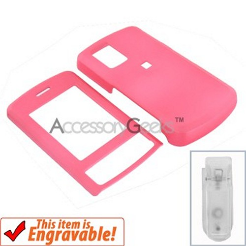 LG Shine Rubberized Hard Case - Baby Pink
