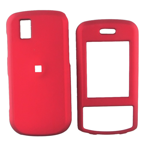 LG Shine II GD710 Rubberized Hard Case - Red