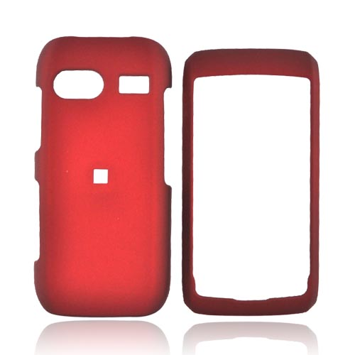 LG VU PLUS GR700 Rubberized Hard Case - Red