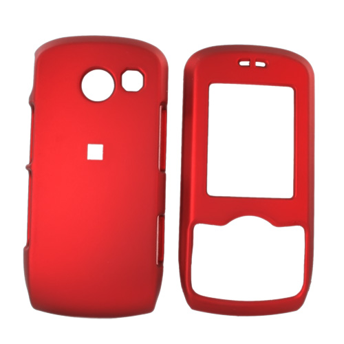 LG Lyric MT375 Rubberized Hard Case - Red