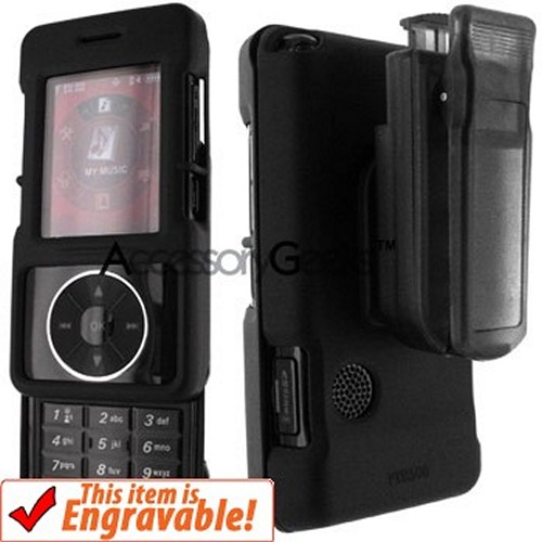 LG VX8500 CHOCOLATE Black Rubberized Hard Case w/ Clip