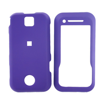 Motorola Rival A455 Rubberized Hard Case - Purple