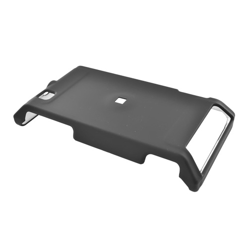 Motorola Devour A555 Rubberized Hard Back Cover Case - Black