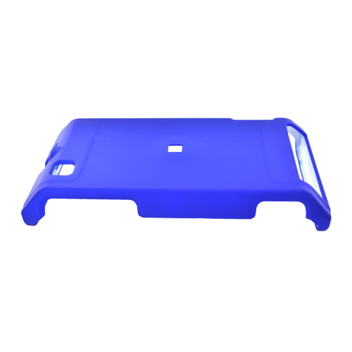 Motorola Devour A555 Rubberized Hard Back Cover Case - Blue
