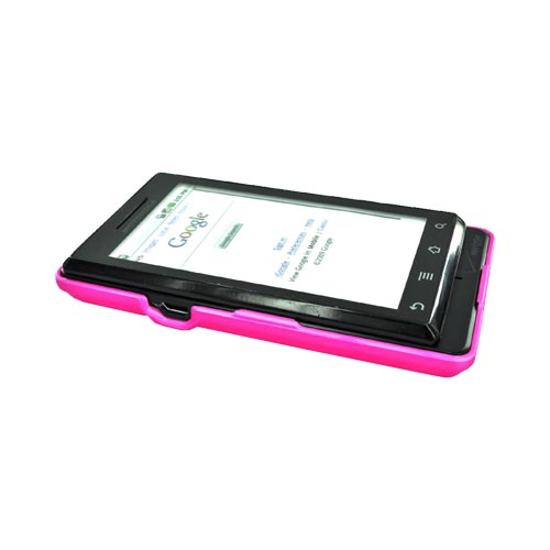 Motorola Droid A855 / Milestone Rubberized Hard Back Cover Case - Pink