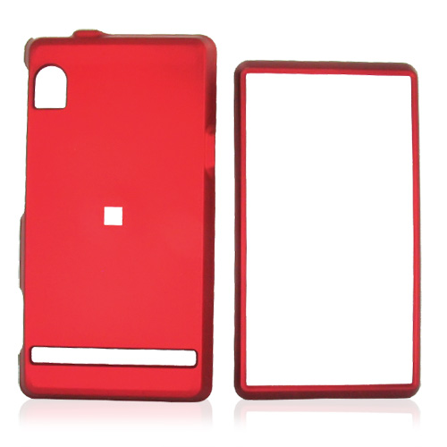 Motorola Droid A855 / Milestone Rubberized Hard Case - Red