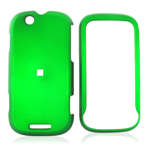 Motorola CLIQ Rubberized Hard Case - Green