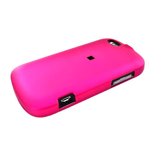 Motorola CLIQ XT Rubberized Hard Case - Rose Pink