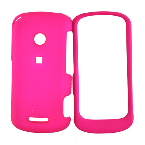 Motorola Crush Rubberized Hard Case - Hot Pink