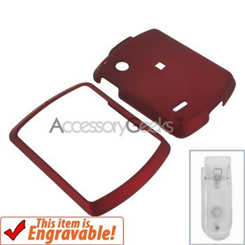 Motorola Hint Rubberized Hard Case - Red