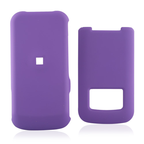 Motorola i410 Rubberized Hard Case - Purple