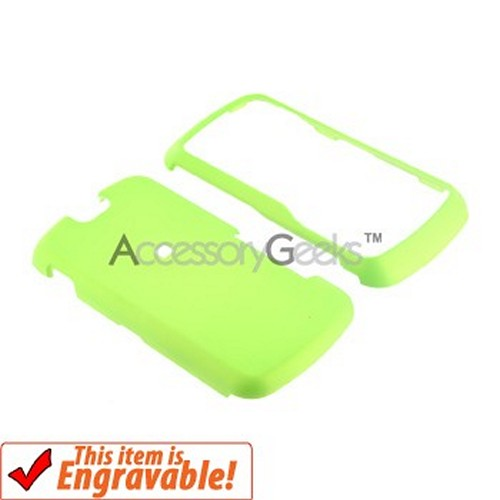 Motorola Clutch i465 Rubberized Hard Case - Neon Green