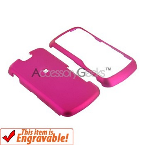 Motorola Clutch i465 Rubberized Hard Case - Rose Pink