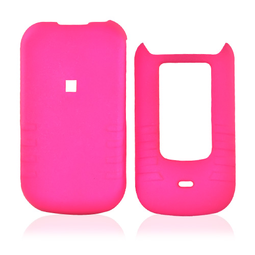 Motorola Brute i680 Rubberized Hard Case - Hot Pink