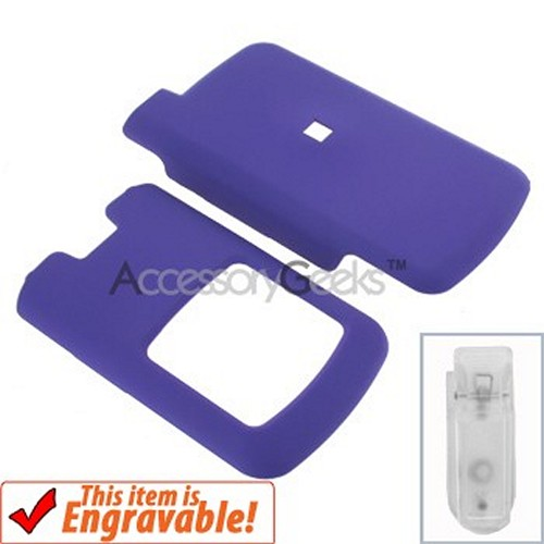 Motorola i776 Rubberized Hard Case - Purple