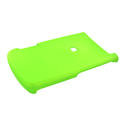 Motorola i890 Rubberized Hard Case - Neon Green