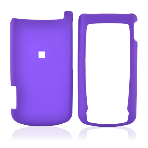 Motorola i890 Rubberized Hard Case - Purple